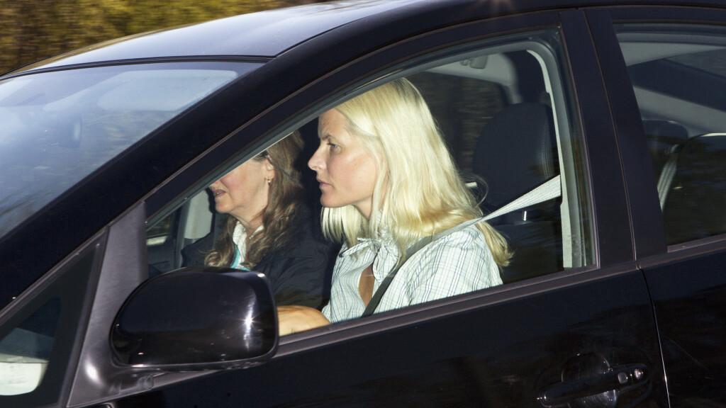 PÅKJØRT: Kronprinsesse Mette-Marit ble tirsdag påkjørt. Dette bildet er hentet fra en tidligere anledning. Foto: Andreas Fadum, Se og Hør