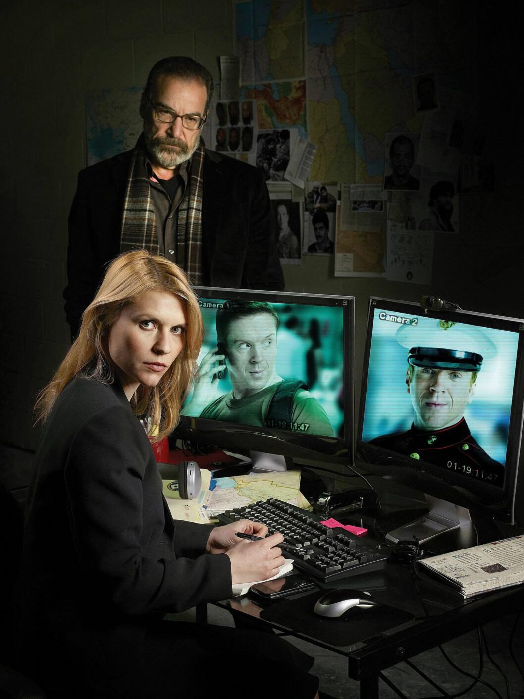SUKSESS: Danes har vunnet en rekke priser for sin rolle som Carrie Mathison i TV-serien Homeland. Her med motspilleren Mandy Patinkin.
