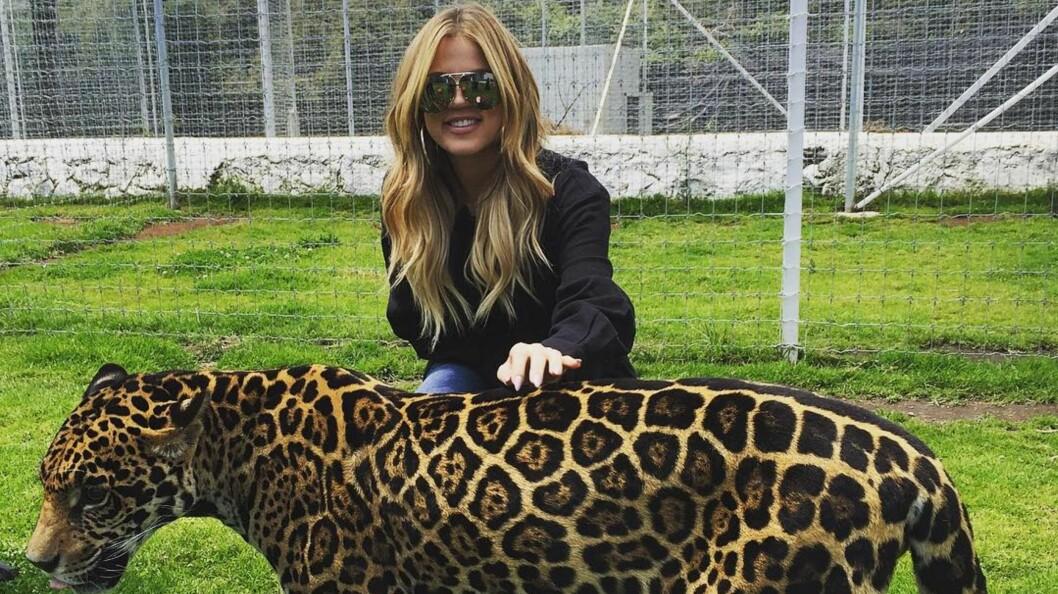 SØTT: Khloé Kardashian koste seg stort da hun besøkte Mexico.  Foto: Instagram
