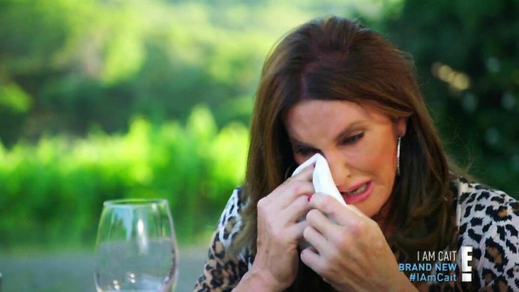 ÅPNER SEG: Det har vært flere tårevåte øyeblikk under realityserien, blant annet da hun snakker om barna sine.  Foto: NTB scanpix
