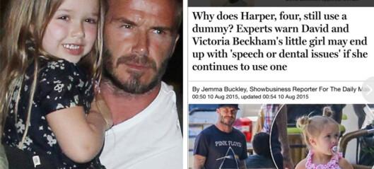 Beckham raser over Harper-hets
