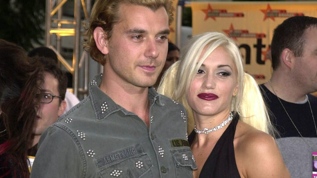 LYKKELIGERE TIDER: Gwen Stefani og Gavin Rossdale møttes i 1995, og falt pladask for hverandre. Her er paret i 2001, året før de ble mann og kone. Foto: Scanpix