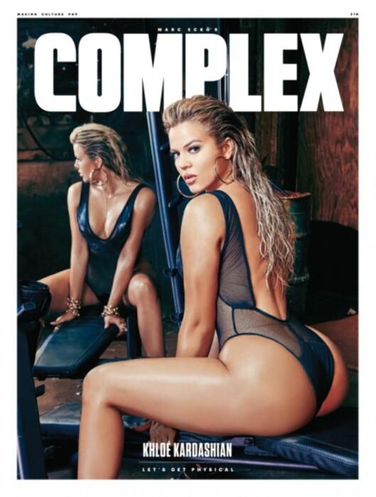 FORMFULL: Khloé viste frem sin veldreide kropp på forsiden av bladet Complex. Foto: Faksimile, Complex