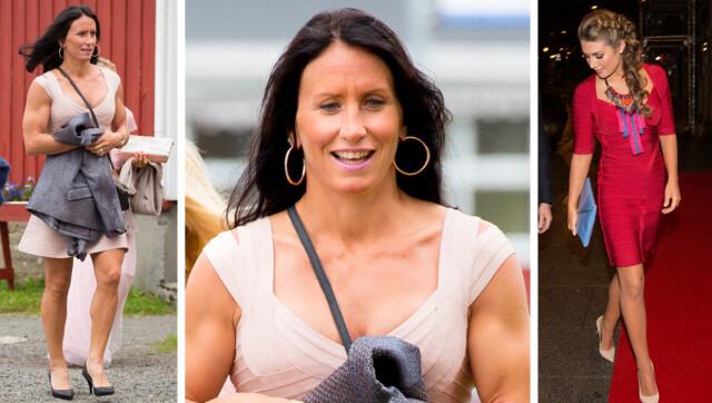 f5a52bd8 LIK SMAK: Marit Bjørgen var kledd i pudderfarget bandasjekjole fra Hervé  Léger under venninnens bryllupet