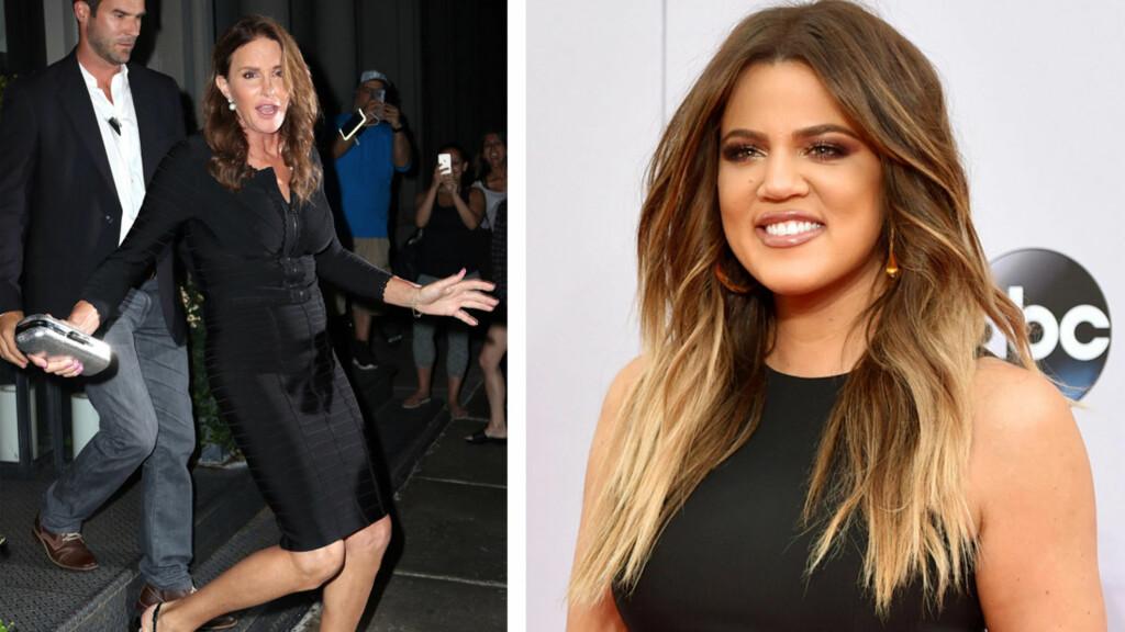 NAVNESURR: Khloe Kardashian innrømmer på vegne av familien at det ikke alltid er like lett å holde styr på den tidligere OL-mesterens navn. Foto: NTB Scanpix
