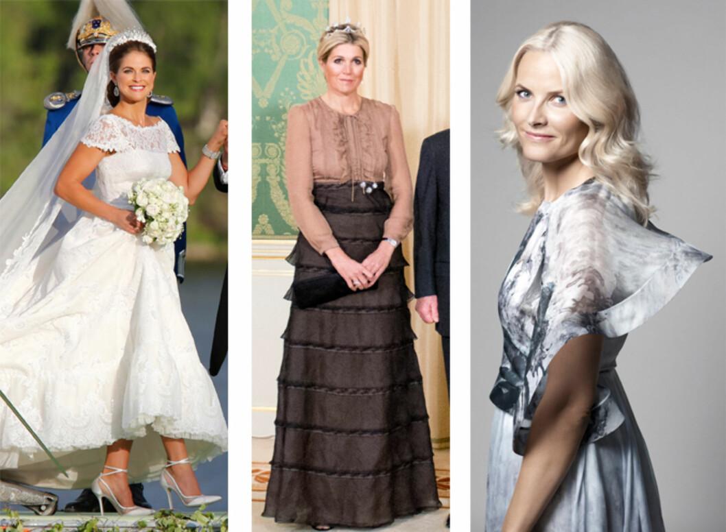 I VALENTINO: Prinsesse Madeleine, dronning Maxima og kronprinsesse Mette-Marit har alle lagt sin elsk på det italienske motehuset.  Foto: NTB Scanpix / Det kongelige slott