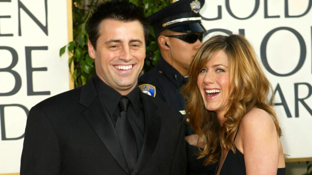 HEMMELIG: Faren til Matt LeBlanc hevder at sønnen hadde et forhold med motspiller Jennifer Aniston.  Foto: NTB scanpix