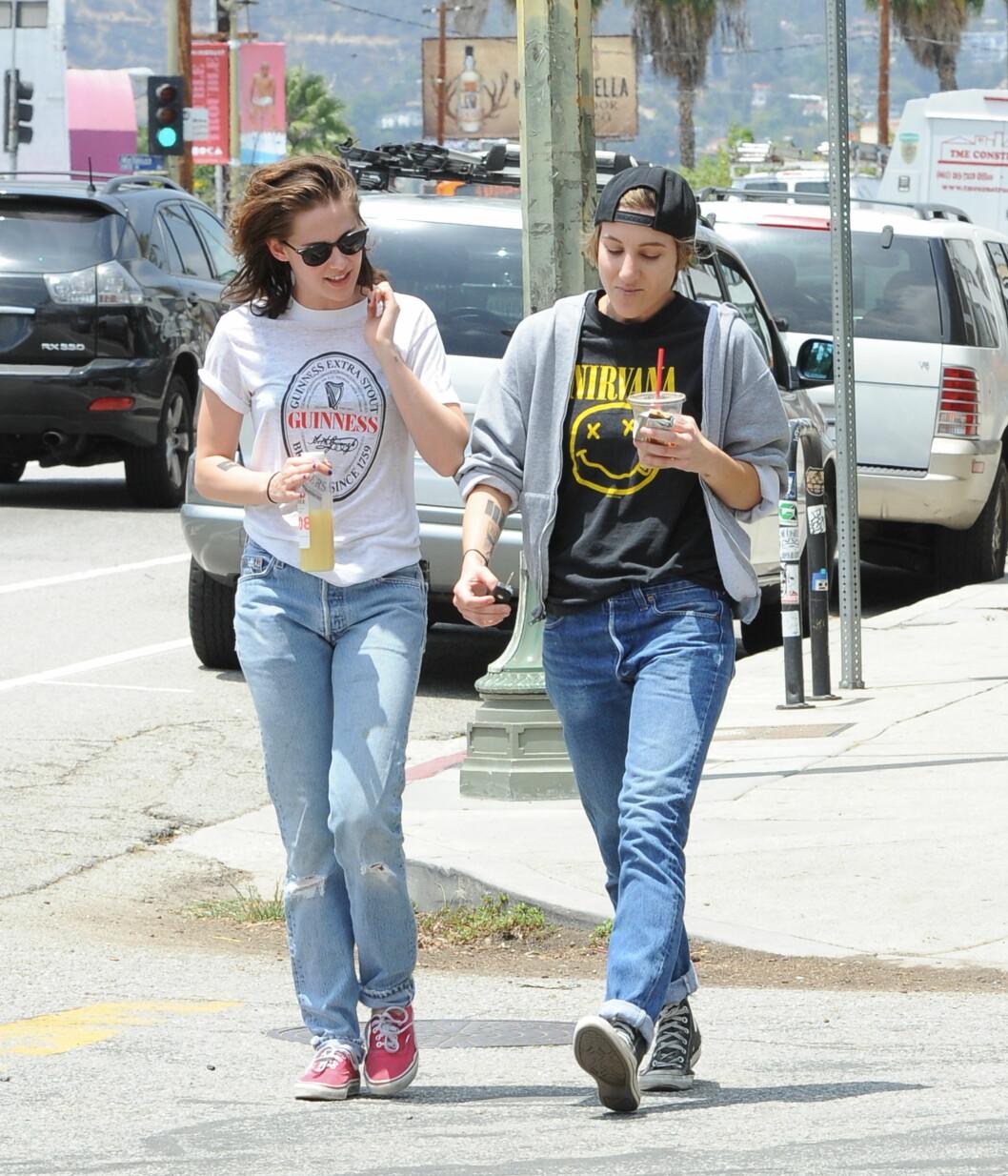 NY FLAMME: Ingen av dem har bekreftet forholdet enda, men amerikanske medier har i lang tid ment at Kristen er i et forhold med Alicia Cargile. Foto: Scanpix