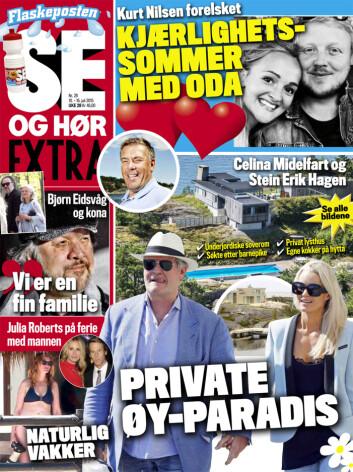 I SALG NÅ: Les om Kurt Nilsens romantiske sommer, Celina Midelfarts private øyparadis og mye, mye mer i Se og Hør Extra! Foto: Faksimile, Se og Hør