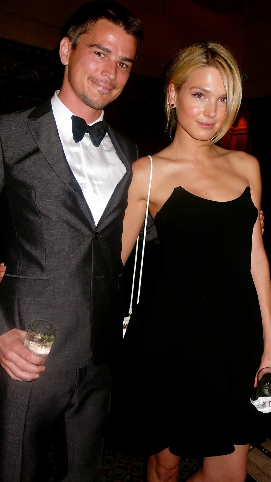 NORSK EKS-KJÆRESTE: Hartnett har tidligere vært sammen med norske Sophia Lie. Her er paret på en fest i New York sammen i 2011. Foto: NTB Scanpix