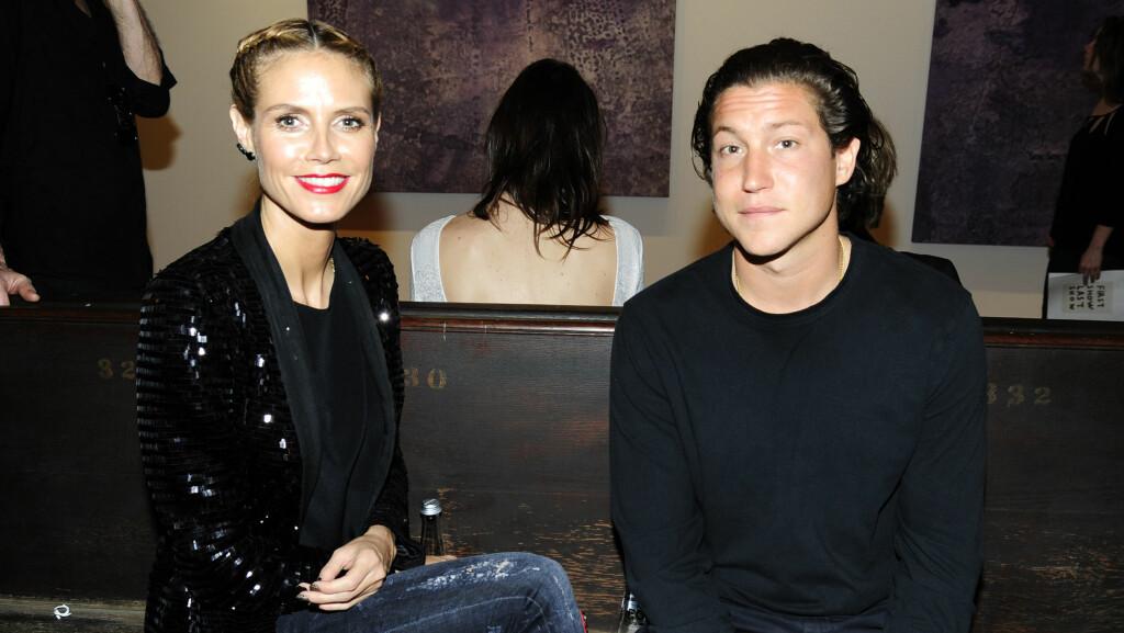 BRUKER KJÆRESTEN SOM INSPIRASJON: Det siste året har Heidi Klum vært sammen med Vito Schnabel. Nå avslører hun at det er ham hun har i tankene når hun tar sexy undertøysbilder.   Foto: NTB Scanpix