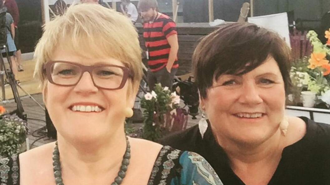 DRAMATIKK: Venstre-leder Trine Skei Grande hadde med seg søsteren Kirsti i TV 2-programmet God Sommer Norge. Der snakket de om flyulykken Kirsti var involvert i på 90-tallet. Foto: Privat/Gjengitt med tilatelse