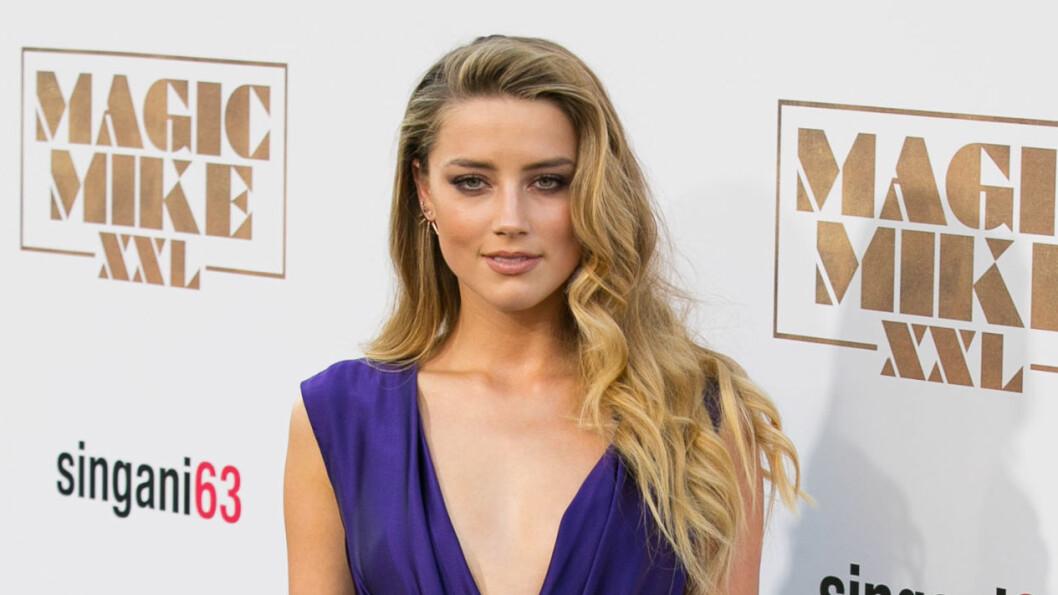 KINOAKTUELL: Amber Heard er straks kinoaktuell i dramakomedien Magic Mike XXL sammen med blant annet Channing Tatum og Joe Manganiello. Her er hun på Hollywood-premieren sist uke.  Foto: NTB Scanpix