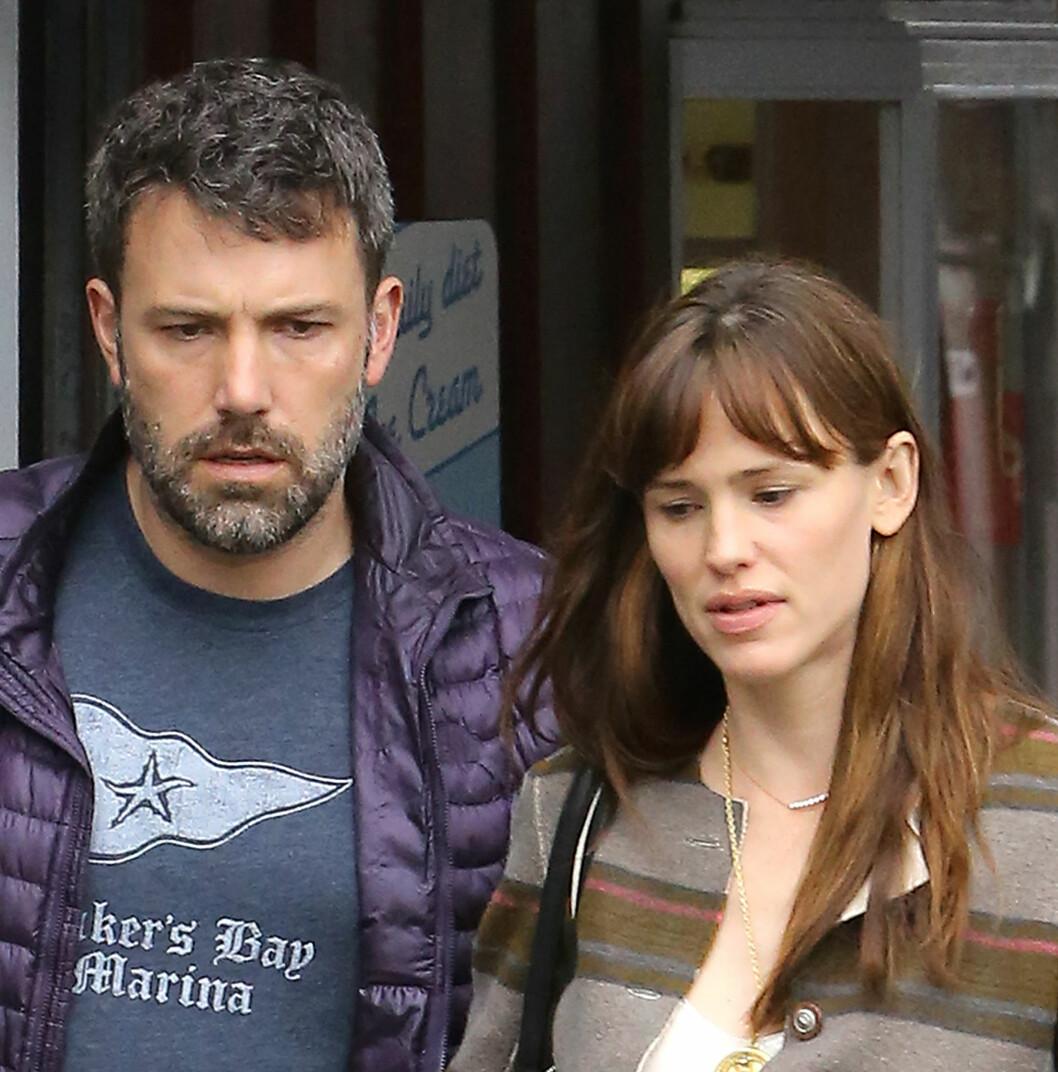 DÅRLIG STEMNING: Tidligere denne måneden virket det som om stemningen var anspent mellom Ben og Jennifer da de var på handletur i Los Angeles. Foto: NTB Scanpix
