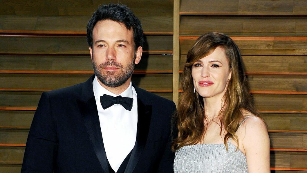 BRUDD: Forholdet mellom Ben Affleck og Jennifer Garner er over. Her er de sammen under Vanity Fair festen etter Oscar-utdelingen i fjor.  Foto: NTB Scanpix