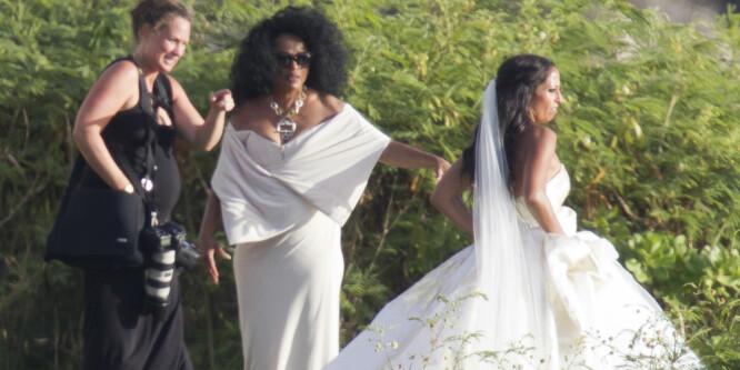 Diana Ross stjal glansen fra bruden