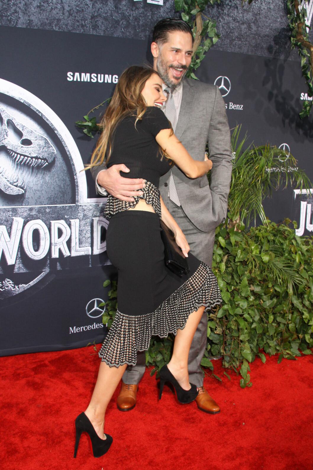 LYKKELIG: Sofia Vergara er forlovet med skuespiller Joe Manganiello. Foto: NTB Scanpix