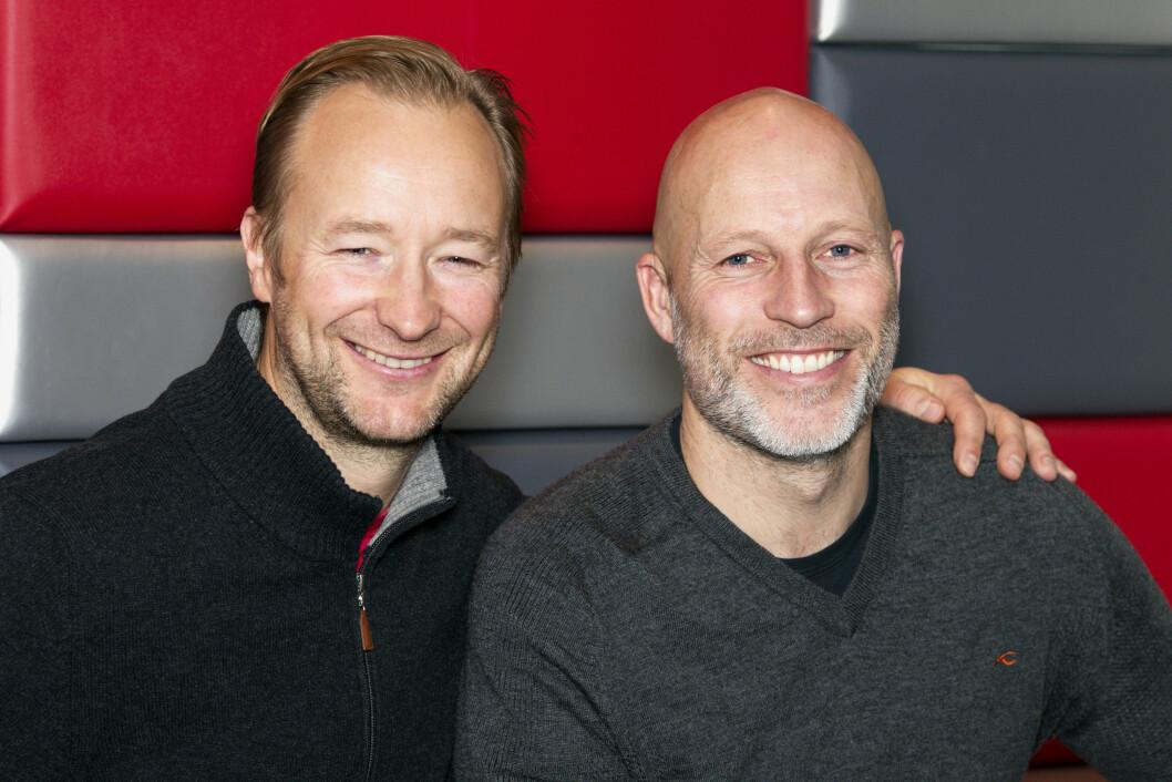 HVEM KAN SLÅ AAMODT OG KJUS? I fem år har kompisene og OL-heltene Kjetil André Aamodt (43) og Lasse utfordret kjendiser til kappestrid på TVNorge. Foto: Se og Hør