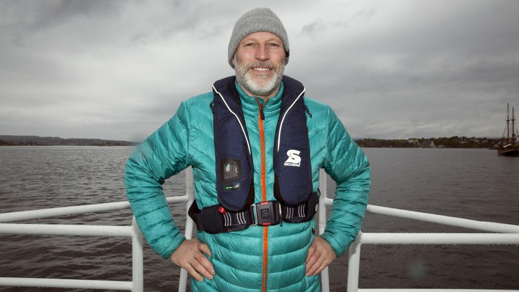 <strong>SJØMANN:</strong> Den tidligere toppalpinisten Lasse Kjus elsker livet på bøljan blå. Sist uke stilte han opp på Kystverkets «Merk skjæret»-kampanje. Foto: Espen Solli, Se og Hør