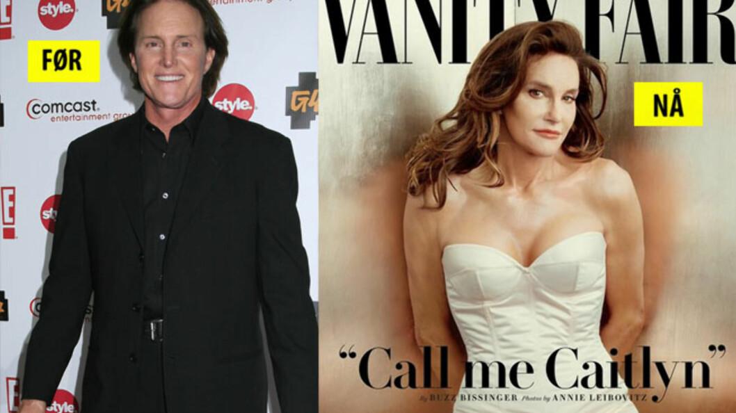 <strong>FORSIDEPIKE:</strong> Endelig viser reality-stjernen Bruce Jenner fram sitt virkelige jeg - og det på forsiden av selveste Vanity Fair. Foto: NTB Scanpix / Vanity Fair