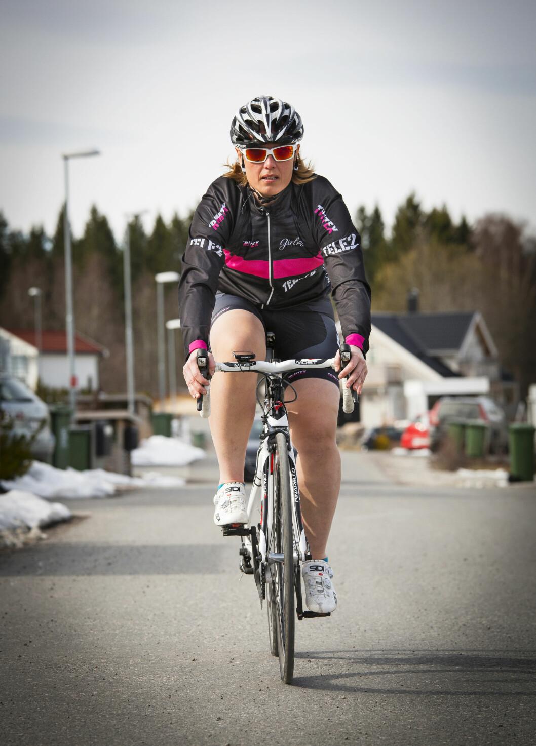 HARDTRENING: Linda trener hardt for å kvalifisere seg til Masters-VM i sykling. Foto: TOR LINDSETH/SE OG HØR