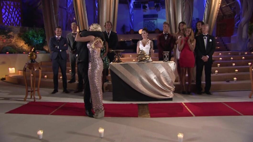 GLADE: Pierre og Martines kjærlighet vant over konkurranseinstinktet.  Foto: TV 3