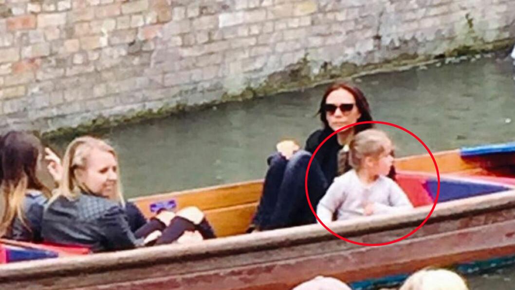 MANGLET VEST: Det var ingen i den mektige Beckham-familien som brukte redningsvest under kanalbåtturen i Cambridge mandag denne uken.  Foto: NTB Scanpix