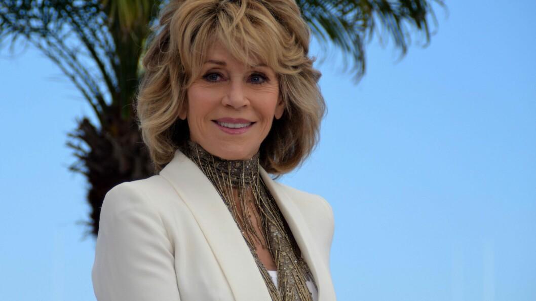 UNGDOMMELIG: Det kan være vanskelig å tro at Jane Fonda fyller 80 år om tre år. Bildet er tatt sist uke under Cannes festivalen i Frankrike. Foto: NTBscanpix