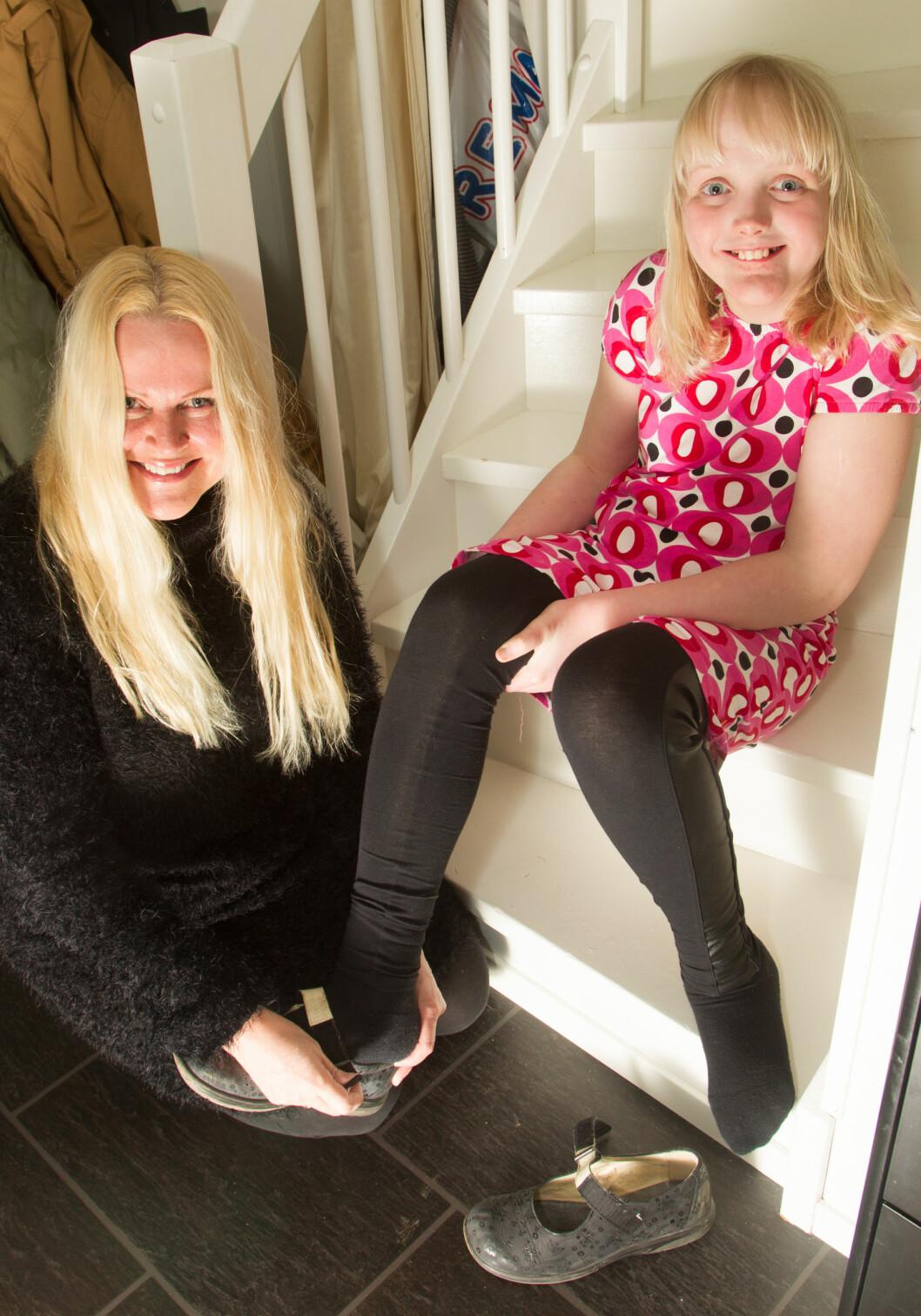 STORE SKO: Mille bruker allerede sko i størrelse 42,5. Foto: SVEND AAGE MADSEN/SE OG HØR
