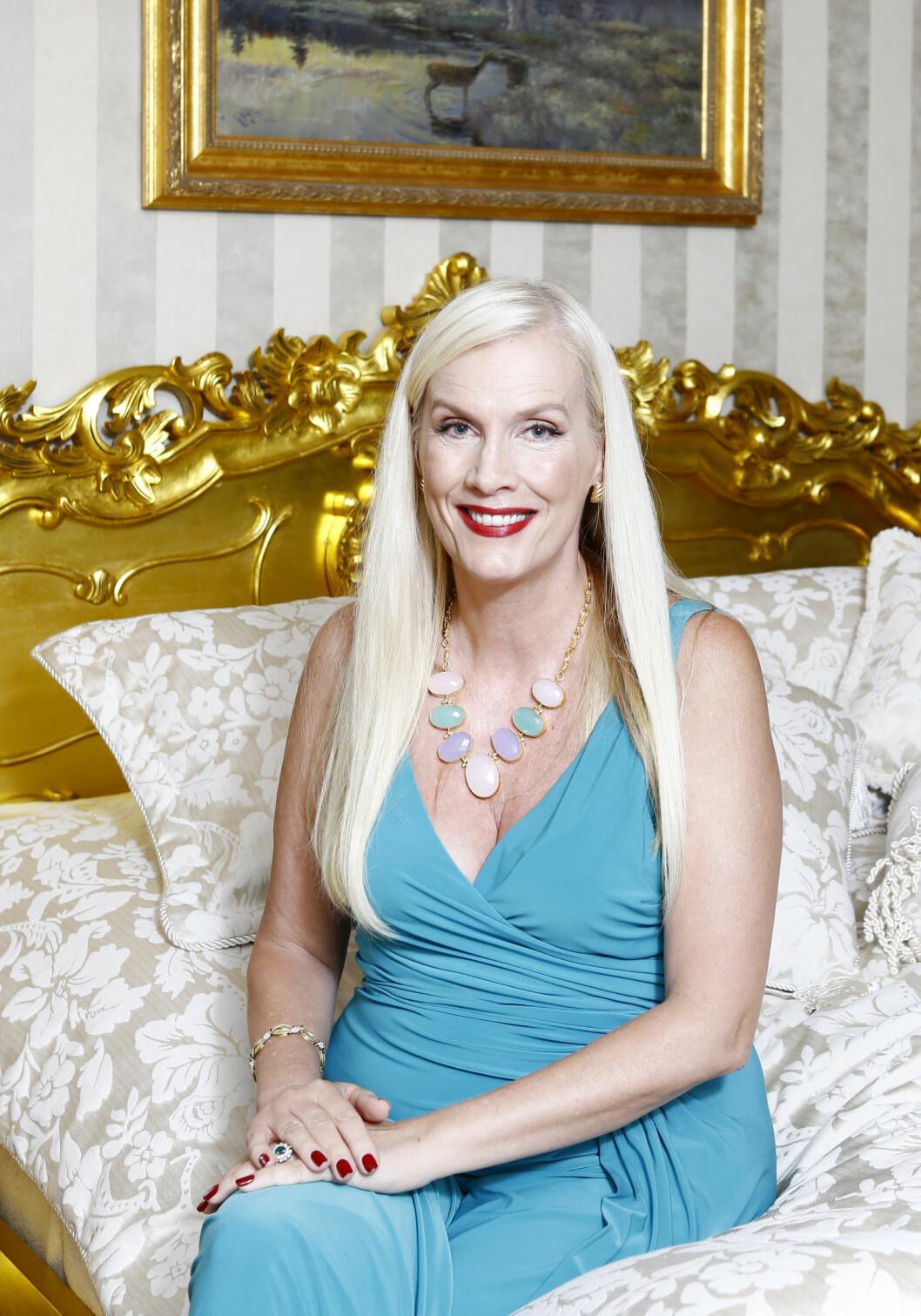 KONTROVERSIELL: Gunilla Persson har måttet tåle mye kritikk for sine utsagn i TV-serien «Svenske Hollywoodfruer» Foto: All Over Press Patrik ??sterberg/