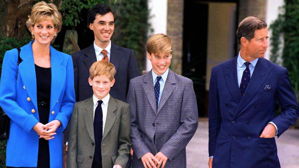FIKK STORT BELØP: Etter prinsesse Dianas død i 1997, skal sønnene Harry og William ha fått omkring 235 millioner kroner. Dette bildet ble tatt i 1995. Foto: Ap