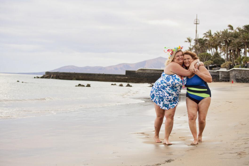 NÆRMERE HVERANDRE: At turen så langt har vært bra for helsa, er det ingen tvil om. Men den er også viktig for forholdet mellom mor og datter. Foto: Arne-Petter Lorentzen
