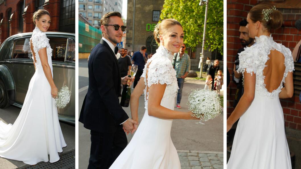 DRØMMEKJOLE: Jenny Skavlan fikk masse skryt for sin spesielle brudekjole, da hun giftet seg med Thomas Gullestad i fjor. Hun forteller at det å sy kjolen sin selv, gav henne mersmak på lignende prosjekter.