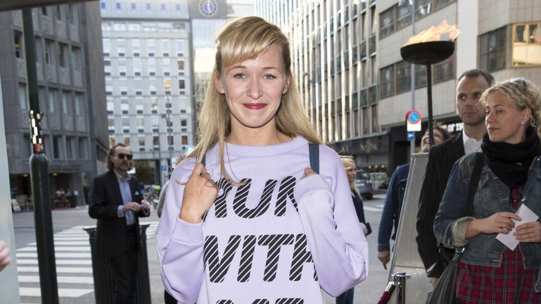 <strong>HØYE KRAV TIL SEG SELV:</strong> Marie Blokhus ofrer gjerne nattesøvnen for å terpe på en rolle før en premiere. Foto: Andreas Fadum