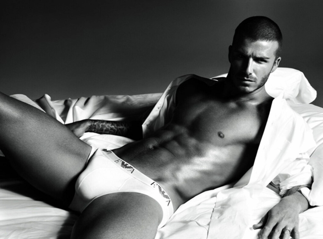 ORIGINALEN: David Beckham i undertøysreklame for Armani fra 2009. Foto: Stella Pictures