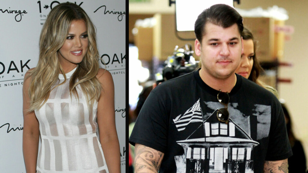ANGST: Søster Khloé Kardashian er svært bekymret for lillebror Robert Kardashian.  Foto: All Over Press