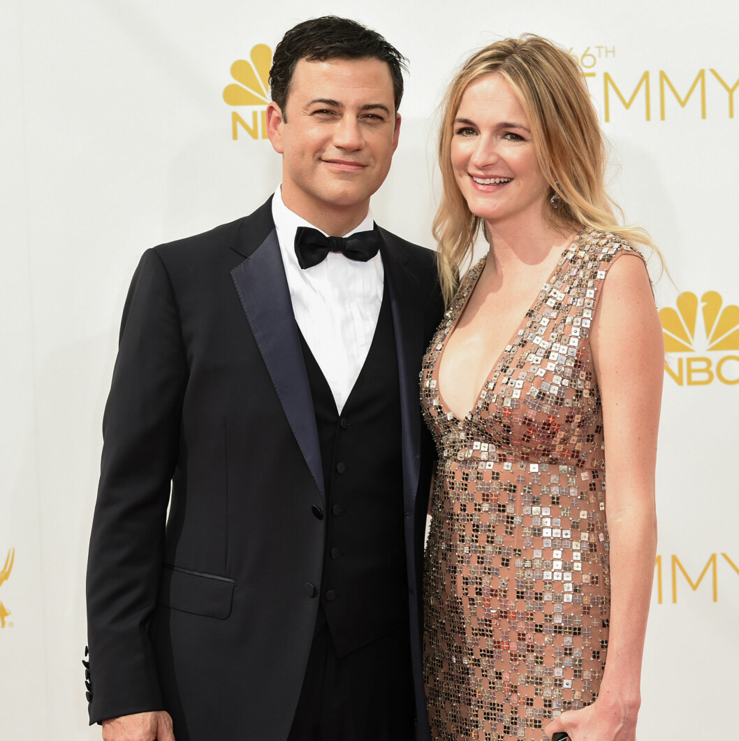 <strong>KONA:</strong> Kimmel er gift med Molly McNearney. I fjor fikk paret en datter sammen. Foto: All Over Press