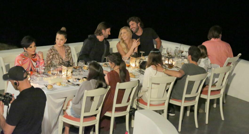 <strong>PÅ TV:</strong> Brandon og Leah (øverst til høyre) er ofte på TV-skjermen i realityserien Keeping Up With The Kardashians. Brandon er Bruce Jenners sønn. Foto: All Over Press