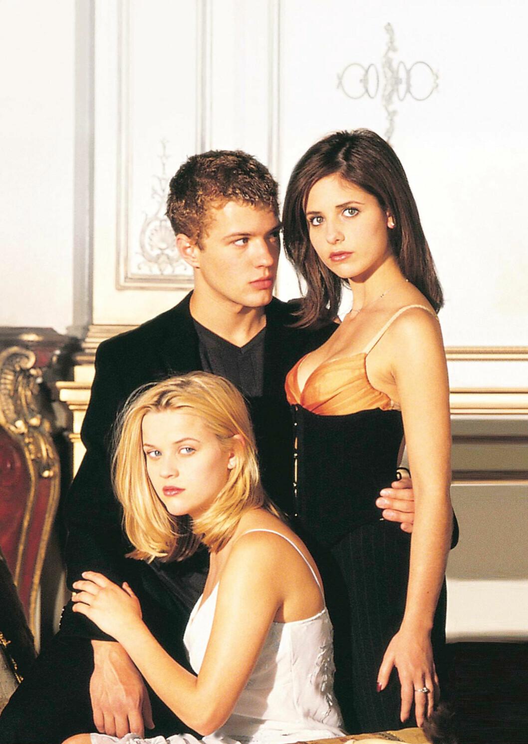 TREKLØVER: Sammen med Sara Michelle Gellar gjorde Ryan og Reese stor suksess i thrilleren Cruel Intentions.  Foto: All Over Press