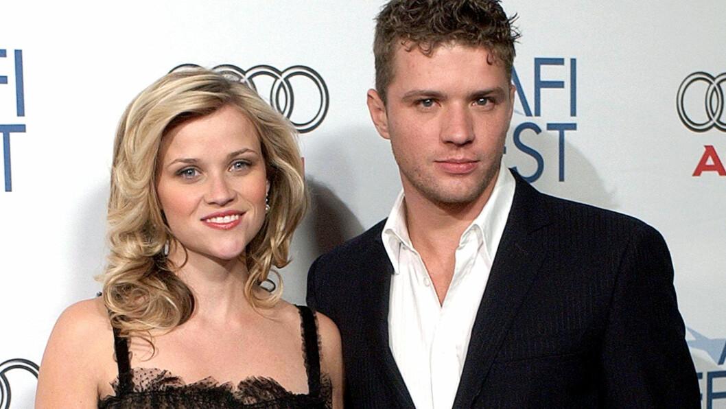 KJÆRLIGHETEN HOLDT IKKE: Ryan Phillippe var gift med Reese Witherspoon fra 1999 til 2007. Her er paret sammen under en filmpremiere i 2005. Foto: John Hayes/Everett Collection/All Over Press