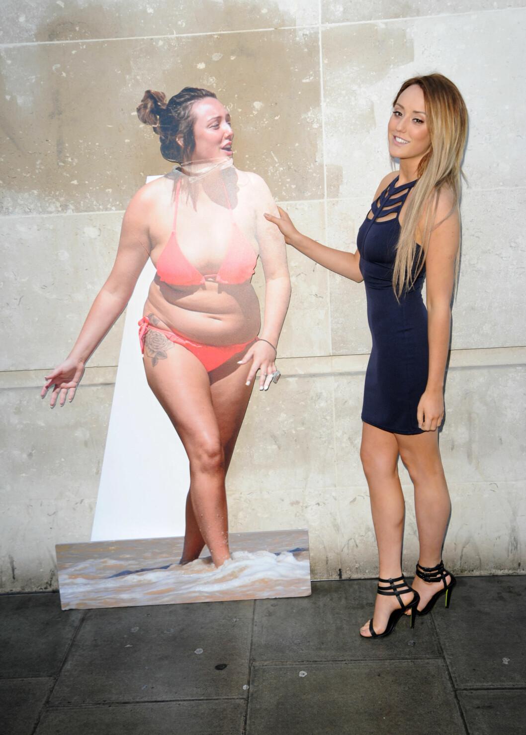 FORVANDLING: Crosby overrasket da hun nylig viste fram sin nye kropp, etter å ha slanket vekk mange kilo på seks måneder. Foto: All Over Press