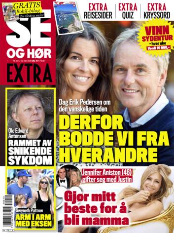 LES MER : I Se og Hør Extra som er i salg nå kan du lese mer om Ole Edvard Antonsen og hans sykdom. Foto: Se og Hør Extra