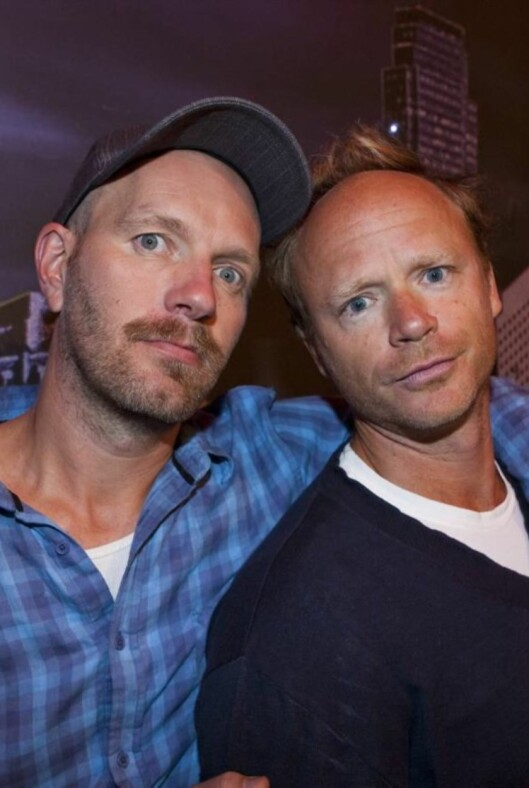 <strong>BLE IMPONERT:</strong> Harald Eia (t.h.) lot seg imponere av Einar Tørnquist. Her er han sammen med komiker-kollega Bård Tufte Johansen.