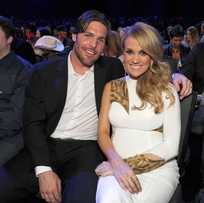 FAN BLE EKTEMANN: Mike Fisher var opprinnelig fan av Carrie Underwood, og møtte henne under en «meet-and-greet». Senere oppsto det gnister mellom de to, og i dag er de gift. Foto: NTB scanpix