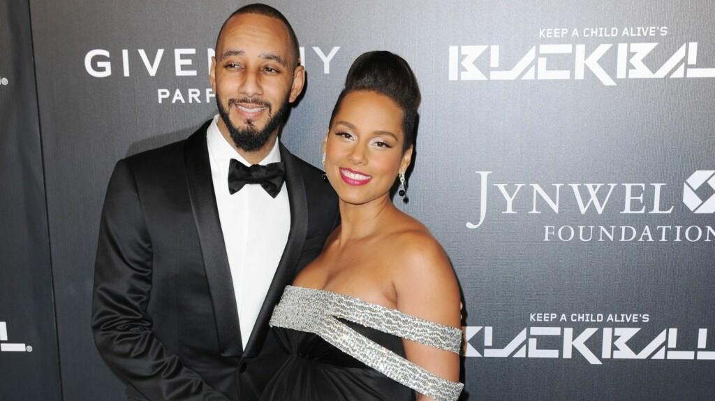 BABYLYKKE: Alicia Keys og Swizz Beatz fikk sitt andre barn sammen i desember. Foto: /All Over Press