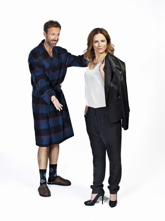 HELT PERFEKT: Thomas Giertsen og Ine Jansen har hovedrollene i den populære TV-serien.  Foto: TVNorge