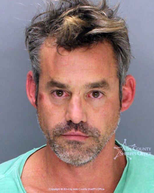 I ARRESTEN: Nicholas Brendon , som er kjent fra Buffy the Vampire Slayer og Criminal Minds ble arrestert bare noen uker etter bryllupet.  Foto: ADA County Sheriff/All Over Press
