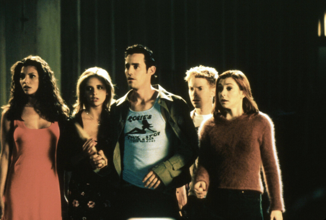 I BUFFY: Charisma Carpenter, Sarah Michelle Gellar, Nicholas Brendon, Seth Green og Alyson Hannigan. Foto: All Over Press