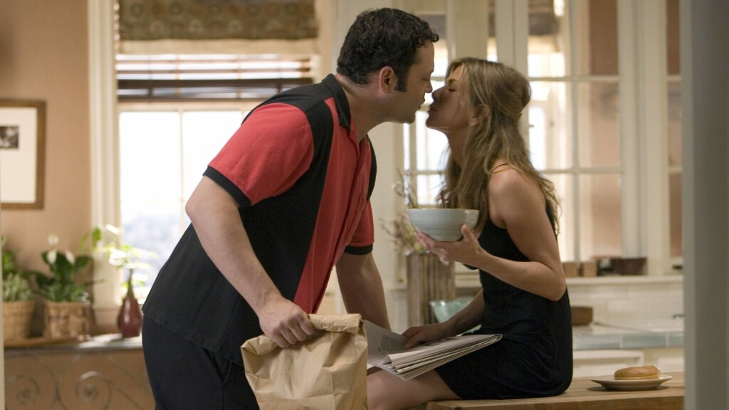 SPILTE MOT HVERANDRE: Vince Vaughn og Jennifer Aniston spilte mot hverandre i 2006-filmen The Break-Up. På samme tid innledet de et forhold privat. Foto: All Over Press