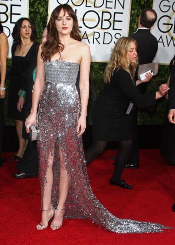 TRENTE: Dakota Johnson trente mye i forkant av filmen. Den vakre skuespillerinnen ble nemlig svært klar over at hun skulle vise seg mye naken. Foto: Stella Pictures